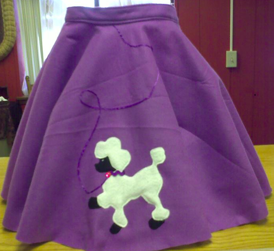 Custom Made Poodle Skirt